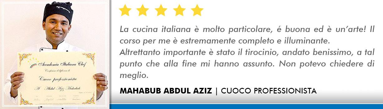 Corso Cuoco a Lecce Opinioni - Abdul
