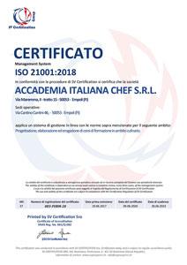 Scuola di cucina a Lecce attestati